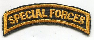 Vintage US Army SPECIAL FORCES Yellow & Black COLOR Tab Patch Cut Edge