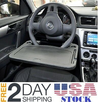 Universal Car  Support Clip Steering Wheel Tray Drink Holder Dining Table HS