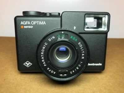 Vintage AGFA Optima electronic 35mm film camera with case