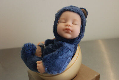 RARE 2008 Anne Geddes Baby Bear French Blue  AG BEAR TOY Egg  30366002