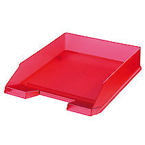 Herlitz 10653814 10653814 Plastic Red,Translucent desk tray filing tray A4-C4 -