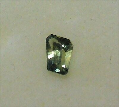 Natural earth-mined yellow/blue/green free-form sapphire gemstone.1.18 carat