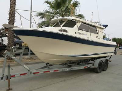 2007 Skagit Orca 24 Pilot House boat/Trailer project 07 Clean Title-Engines run