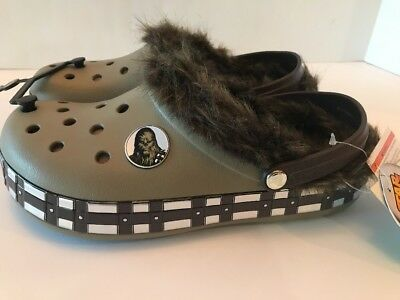 Crocs Star Wars Chewbacca Fur Lined Shoes Unisex Size M8/w10 Nwt