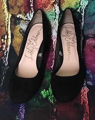 f2cfcaf27e707 women s libby edelman high heels ladies shoes faux suede black 9m closed  toes