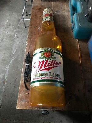 Vintage Miller High Life Beer Bottle Lighted Sign