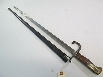 France French Gras Sword Bayonet With Scabbard Dated 1880 #j24