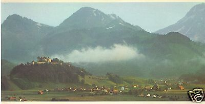 SWISSAIR of Switzerland LARGE 5x10 AIRLINE ISSUE POST CARD GRUYERS 1990's