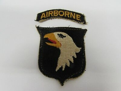 WWII US Army 101st airborne patch tunic removed with tab.