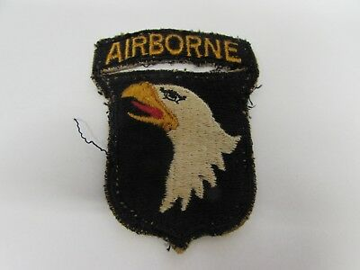 WWII US Army 101st airborne patch attached tab RARE tunic removed.