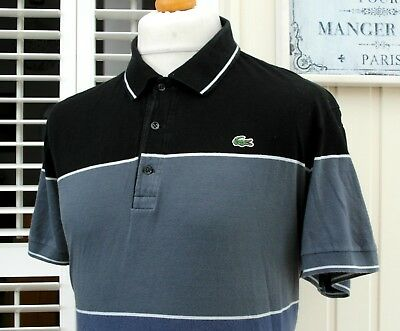 """Lacoste Colour Block Polo T-Shirt - 46"""" - XL/XXL - Mod Ska Scooter Casuals Skins"""