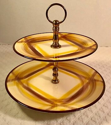 Two Tiered Serving Tray ORGANDIE by METLOX - POPPYTRAIL - VERNON ca 1937-1958