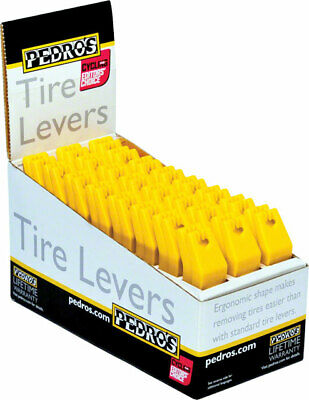 New Pedro's Tire Levers 24 Pack Tire Lever Counter Display Yellow
