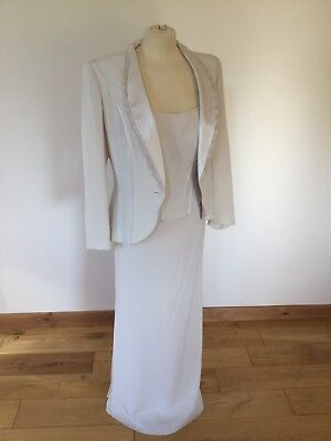 John Charles 3 piece suit size 12 full length Vanilla