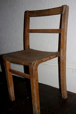 Vintage Small Wooden Chair - Childs Seat - Nursery - Upcycle