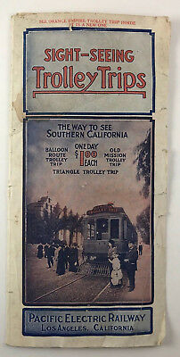 Early 1900s Pacific Electric Railway Trolley Trips Los Angeles, California