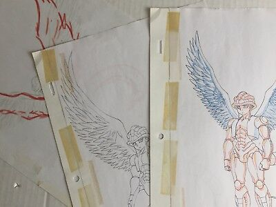 RARE COLOR WINGED MERUEM animator drawing COPY set of 3 Cel style hunterxhunter