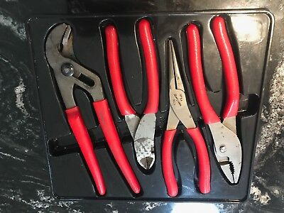 NEW Snap-On 4 Pc Pliers / Cutters Set PL400B 47CF 91CP 96CF 87CF