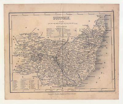 SUFFOLK - England - Stahlstich - Map - Karte 1835