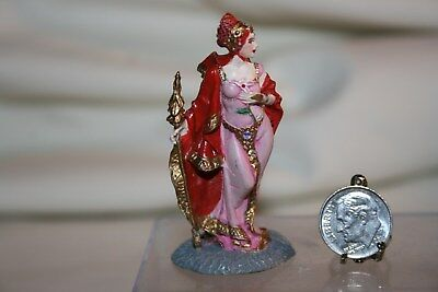 Miniature Dollhouse Floor Statue Franklin Mint Queen Iris of Xanth Pewter 1:12