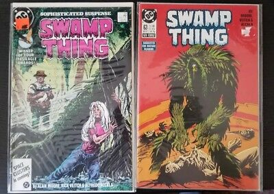 Swamp Thing #54 !and#63 (1986 / 87) VF/NM- Alan Moore