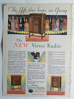 1923 Victor radio electrola model RE-57 R-39 R-35 original ad