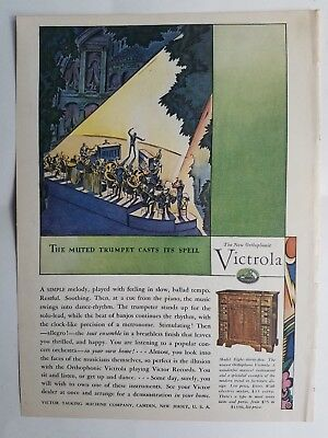 1928 Victor new orthophonic victrola phonograph model eight thirty five ad
