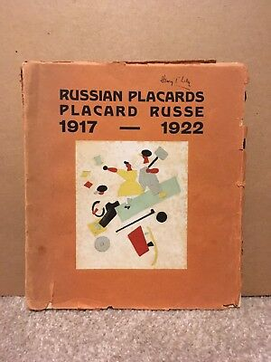 Extremely Rare Russian Placards 1917-1922 Soviet Art Deco Propoganda Book Art