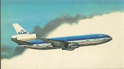 KLM Royal Dutch Airlines issue Illustrated Large 5x9 POSTCARD DC-10-30 1970's