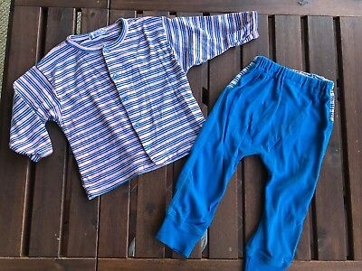 Under The Nile Baby Boy 18 Months Organic Cotton Night Set Pajamas Sleeper