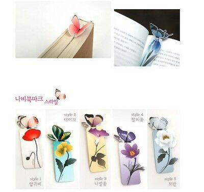 1 X Butterfly Bookmark  Cartoon Book Mark Paper Brand new