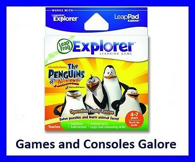NEW Leap Pad Ultimate Game, LeapPad Penguins of Madagascar,  Leapfrog GS