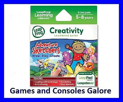 NEW LeapPad Ultimate Game, Adventure Sketchers Leap Pad, LeapsterGS Leapfrog