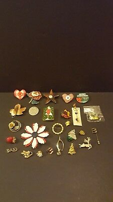 Vintage Women's Pin Lot - Over 24 Pins - Estate Find