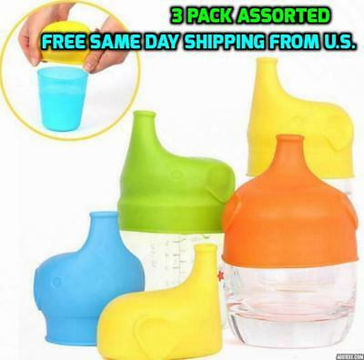 3X Silicone Sippy Cup Lids Universal Spill Proof No Bpa Free  Shipping Us Seller