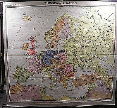 Schulwandkarte Map Europa Europe 1960 3mio 197x183cm Old School Map
