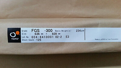 Yupo FGS 300 - 234 GSM (300 micron) Synthetic Paper 10 sheets A 4 210mmx297mm