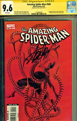 Amazing Spider-Man #600 Cgc 9.6 Ss Signed By Stan Lee-Key Issue In Asm History