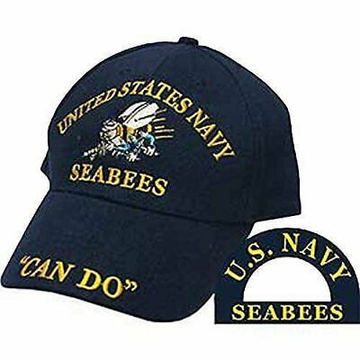ca983ff638d U.S Military Navy Seabees Can Do Embroidered Baseball Hat U.S Navy Licensed  Cap
