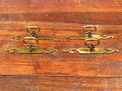 4 Brass Key Hole Style Cabinet Door Drawer Pulls