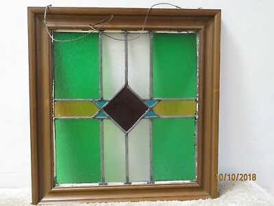19x19 Framed Stained Glass Window