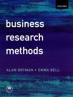 Business Research Methods by Bell, Emma Paperback Book The Cheap Fast Free Post