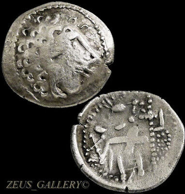 Danubian Celtic Silver Alexander the Great type Herakles Ancient Greek Coin
