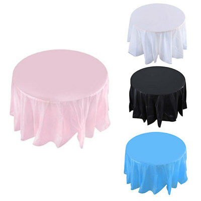 Plastic ROUND TABLECOVERS Table Cloth Cover Catering Events Party Waterproof
