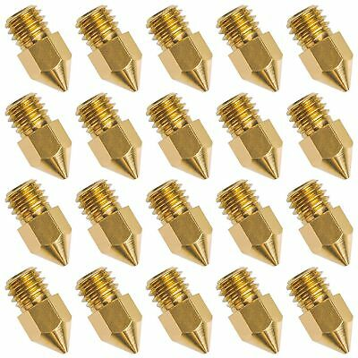 20 PCS 3D Printer Nozzle 0.4mm MK8 Extruder Head for Creality Cr10 F6S2