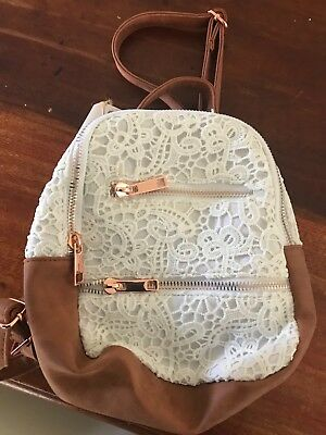 Typo Girls Backpack Brand New with tags brown and white