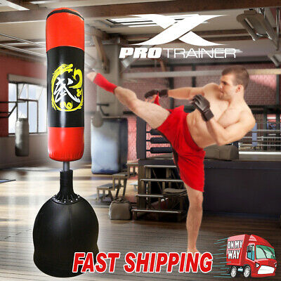 New 178Cm Home Gym Boxing Bag Target Free Standing Punching Dummy Kick Mma