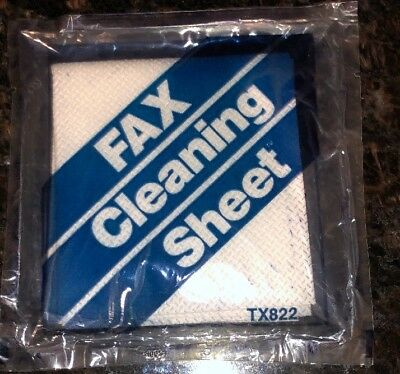 Vintage Fax Cleaning Sheets TX822 - The Texwipe Company - 5 Sheets Included