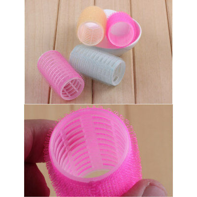 9PCS Large Self Grip Hair Rollers Curling Curls Waves Cling Stick Styling A33