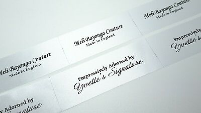 25mm  x 50mm Personalised Clothing Garment Label Craft Handmade Business